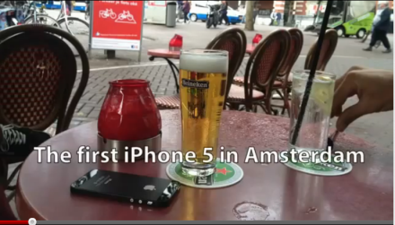 First iPhone in Amsterdam